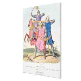 Archers y un ballestero, 1312, de 'AR antigua Lona Estirada Galerias