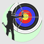 archery2 丸形シールステッカー