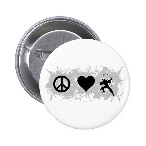 Archery 2 2 inch round button