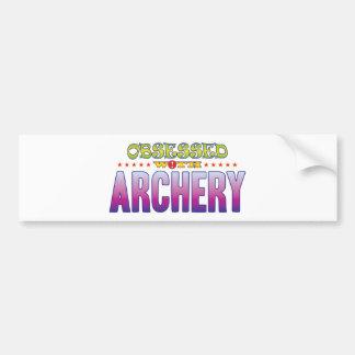 Archery 2 Obsessed Car Bumper Sticker