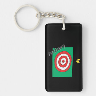 Archery 3 Double-Sided rectangular acrylic keychain