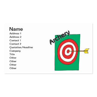 Archery 3 Double-Sided standard business cards (Pack of 100)