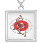 Archery 4 personalized necklace