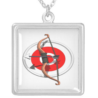 Archery 4 silver plated necklace