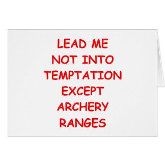 archery archer card