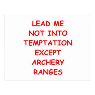 archery archer postcard