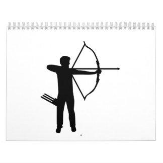 Archery archer calendar