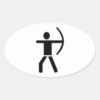 Archery arrow bow sticker