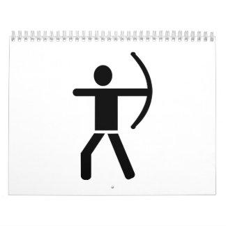 Archery arrow bow calendar