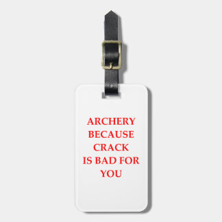 archery bag tag