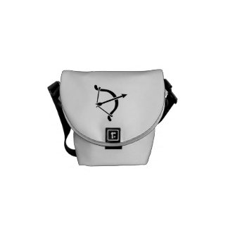 Archery bow arrow messenger bag