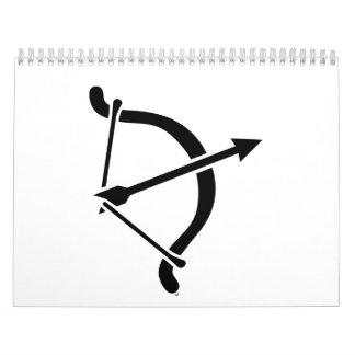Archery bow arrow calendar