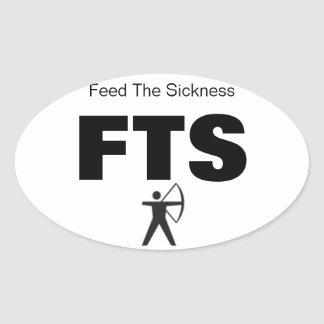 Archery Bow Hunting Feed the Sickness OVAL set (4) Oval Sticker