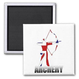 Archery British flag Archer UK GB 2 Inch Square Magnet