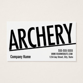 Archery Business Card 10 Class Pass