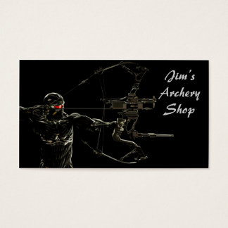Archery Business Card Predator Archer