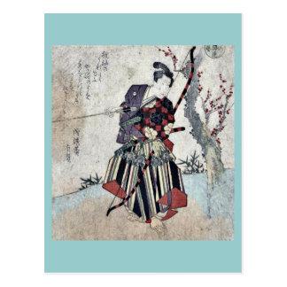 Archery by Yanagawa, Shigenobu Ukiyoe Postcard