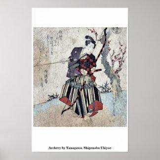 Archery by Yanagawa, Shigenobu Ukiyoe Posters