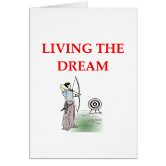 archery greeting cards