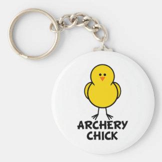 Archery Chick Keychains