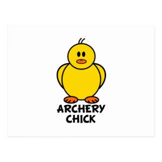 Archery Chick Postcard
