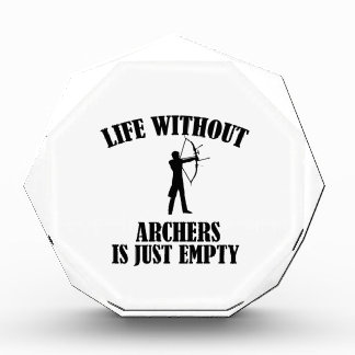 archery design acrylic award