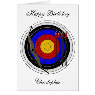 Archery Design Just Add Name Birthday Card