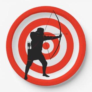 Archery Design Paper Party Plate