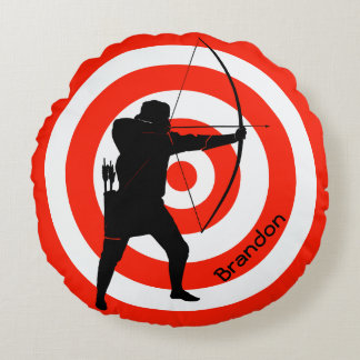 Archery Design Round Pillow