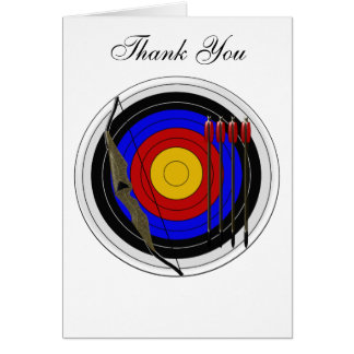 Archery Design Thank You Card