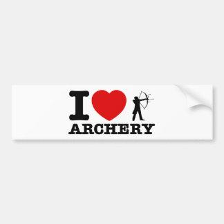 Archery Designs Car Bumper Sticker