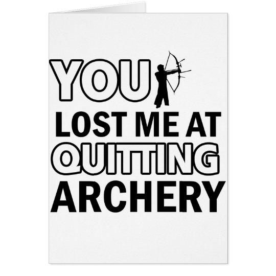 Archery designs card