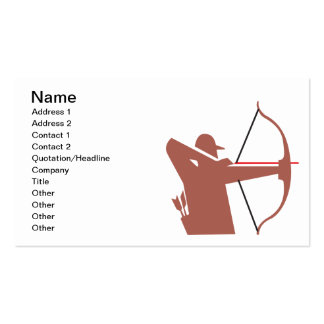 Archery Double-Sided Standard Business Cards (Pack Of 100)
