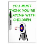 archery dry erase white board