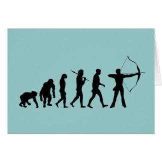 Archery Evolution of an Archery Bow and Arrow Card