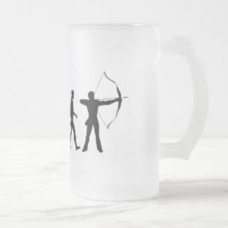 Archery Evolution of an Archery Bow and Arrow Coffee Mug