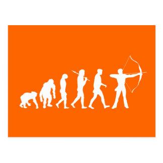 Archery Evolution of an Archery Bow and Arrow Postcard