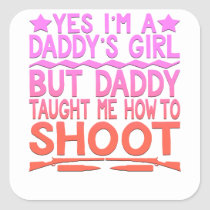 ARCHERY FUNNY TEE - Daddy's Girl Square Sticker