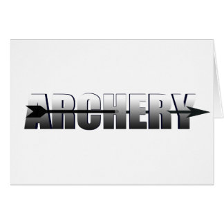 Archery gifts for Bow and Arrow addicts Card