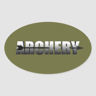 Archery gifts for Bow and Arrow addicts Oval Sticker