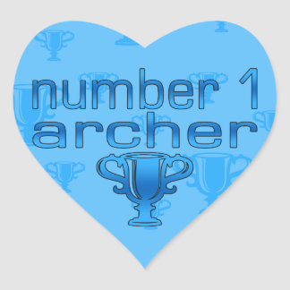 Archery Gifts for Him: Number 1 Archer Heart Sticker