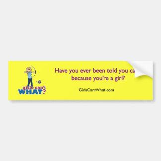 Archery Girl in Blue - Blonde Bumper Sticker