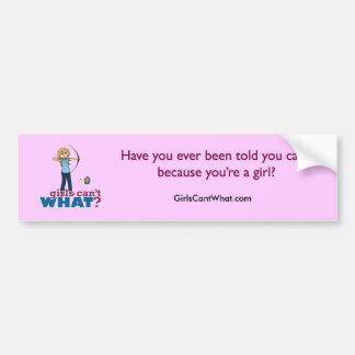Archery Girl in Blue - Blonde Bumper Stickers