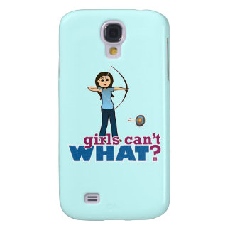 Archery Girl in Blue - Light Galaxy S4 Cover