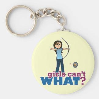 Archery Girl in Blue - Light Keychains