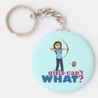 Archery Girl in Blue - Light Key Chain