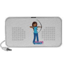 Archery Girl iPod Speakers