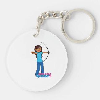 Archery Girl Acrylic Keychain