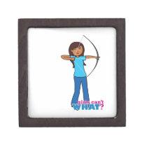 Archery Girl Premium Keepsake Box
