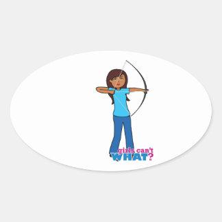 Archery Girl Sticker